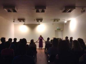 Tina at the Poetry Evening